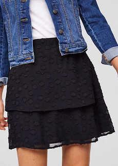 LOFT Bloom Textured Flounce Skirt