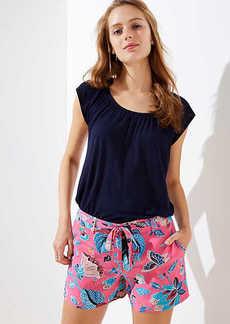 LOFT Bloom Tie Waist Fluid Shorts