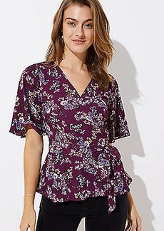 LOFT Bloom Wrap Blouse