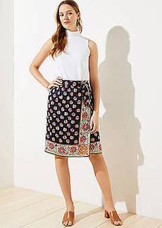 LOFT Bloom Wrap Skirt