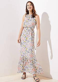 LOFT Blossom Ruffle Maxi Dress
