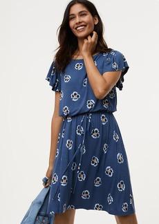 Blossom Smocked Flutter Dress