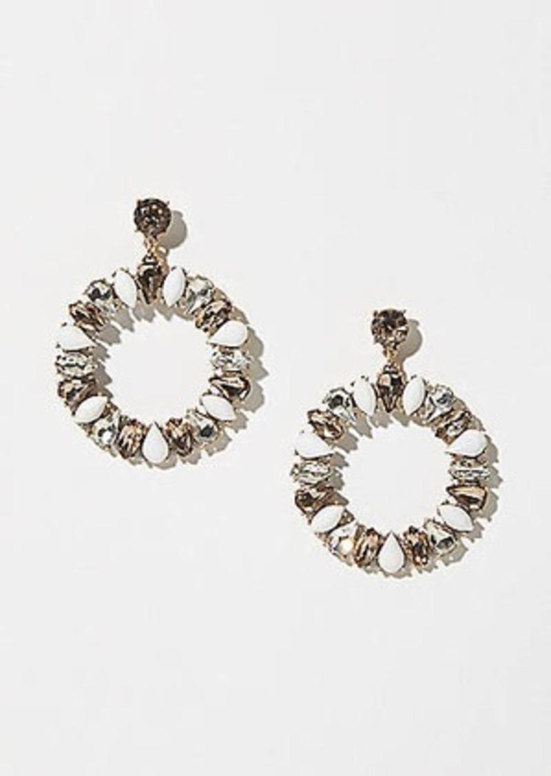 LOFT Blossom Statement Drop Earrings