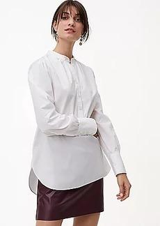 LOFT Blouson Henley Tunic Shirt