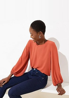 LOFT Draped Sleeve Top
