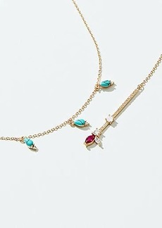 LOFT Blue Stone Double Layer Necklace