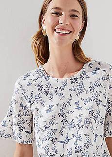 LOFT Bluebird Bell Cuff Sweater