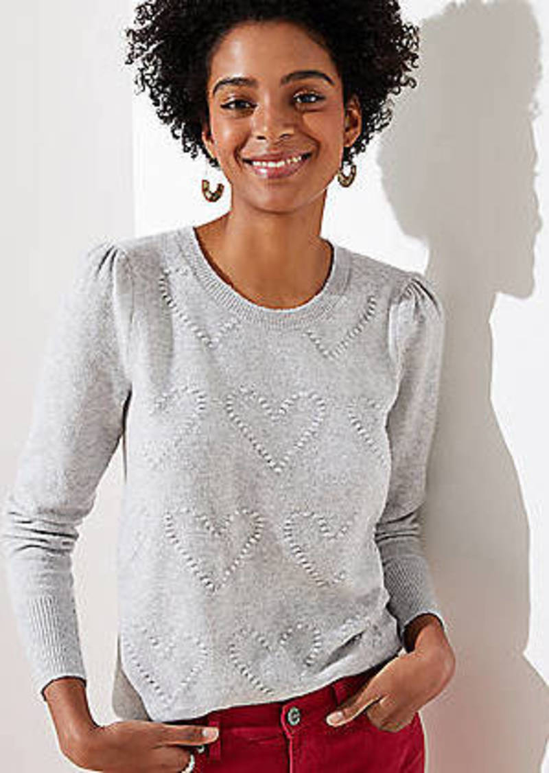 LOFT Bobble Heart Sweater