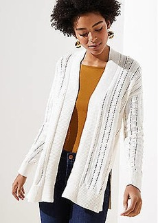 LOFT Bobble Open Cardigan
