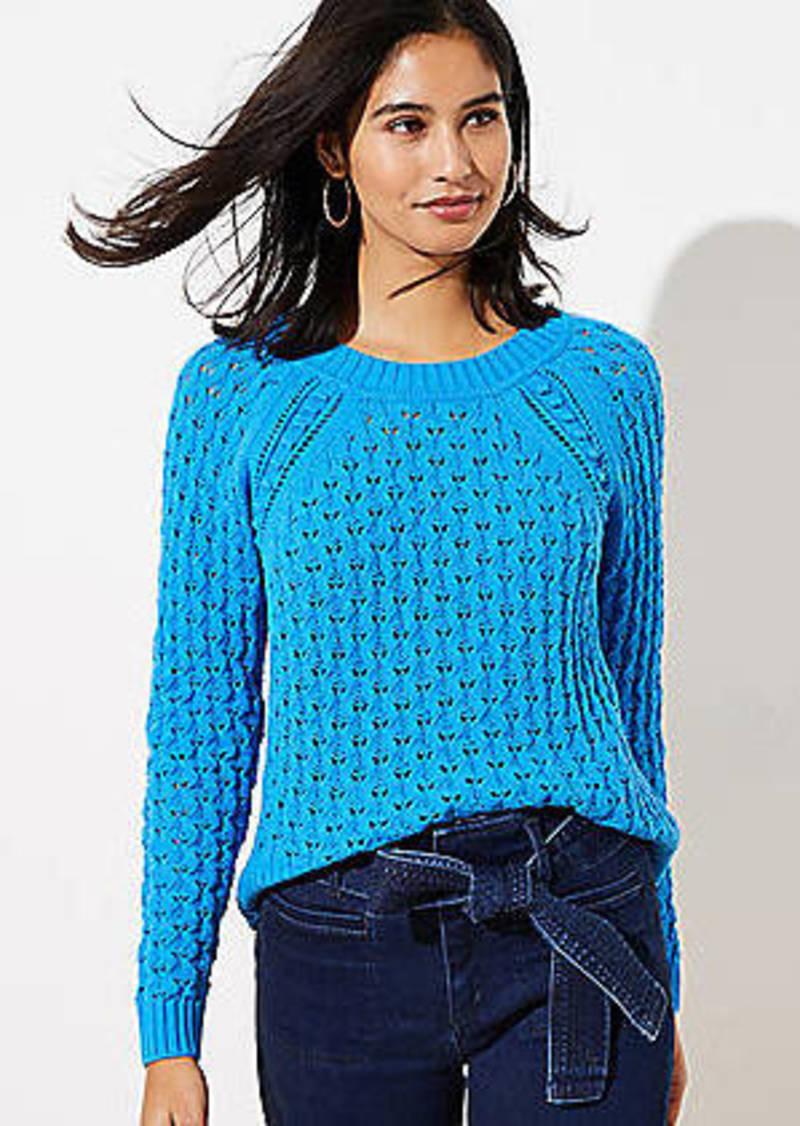 LOFT Bobble Pointelle Sweater