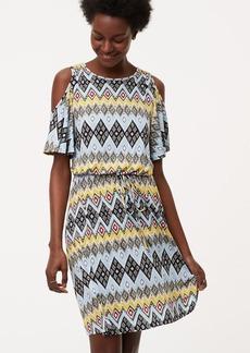 LOFT Boho Cold Shoulder Dress