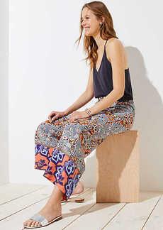 LOFT Boho Mosaic Fluid Drawstring Pants