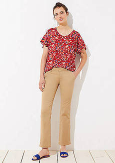 LOFT Bootcut Girlfriend Chinos