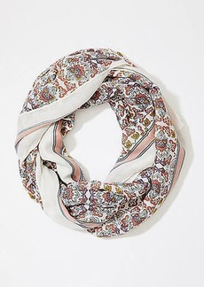 LOFT Border Floral Infinity Scarf