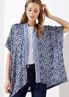 LOFT Border Floral Kimono