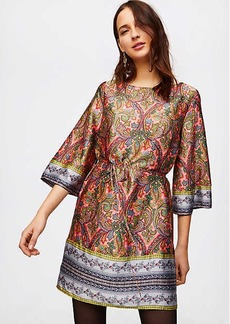 LOFT Border Paisley Satin Dress