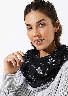 LOFT Bordered Bloom Infinity Scarf