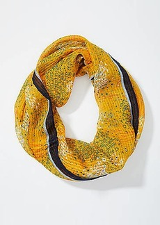 LOFT Bordered Floral Sketch Infinity Scarf