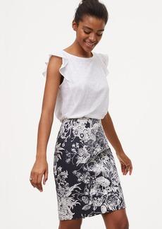 Botanic Pencil Skirt