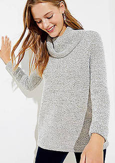LOFT Boucle Cowl Neck Tunic Top