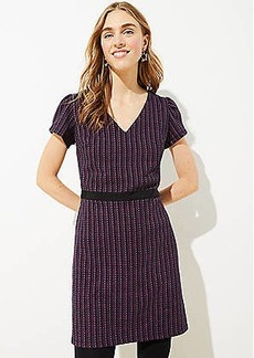 LOFT Boucle Flare Dress