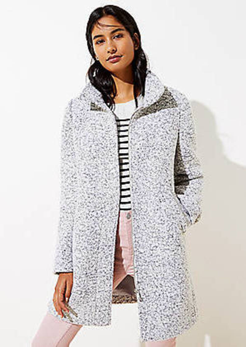 LOFT Boucle Funnel Neck Coat