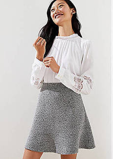 LOFT Boucle Knit Flippy Skirt