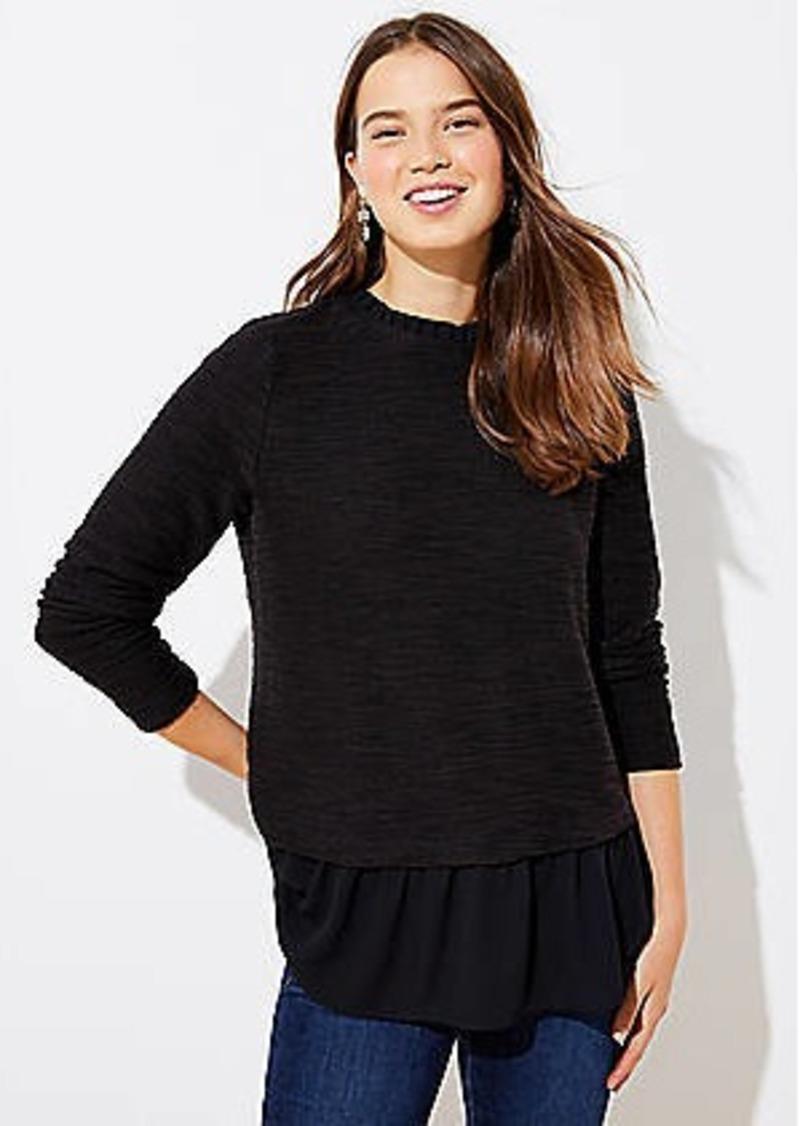 LOFT Boucle Mixed Media Sweatshirt