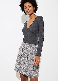 LOFT Boucle Pocket Shift Skirt