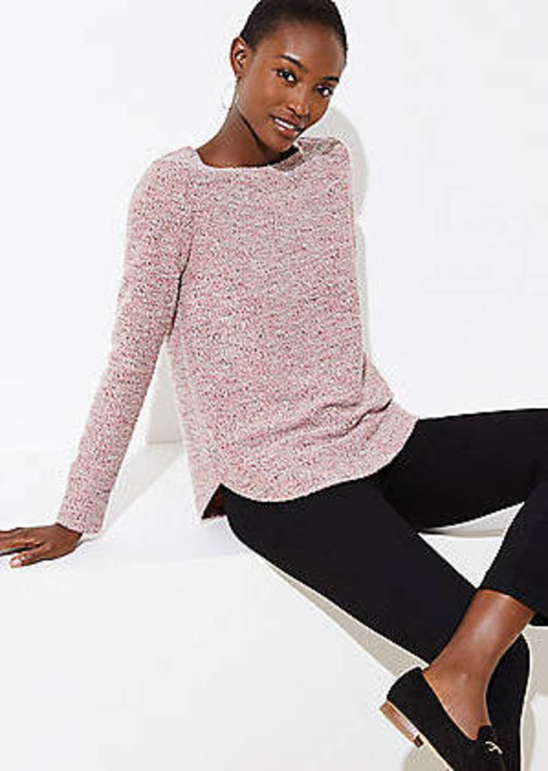 LOFT Boucle Tunic Sweatshirt