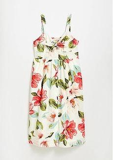 LOFT Bouquet Clip Tie Front Pocket Dress