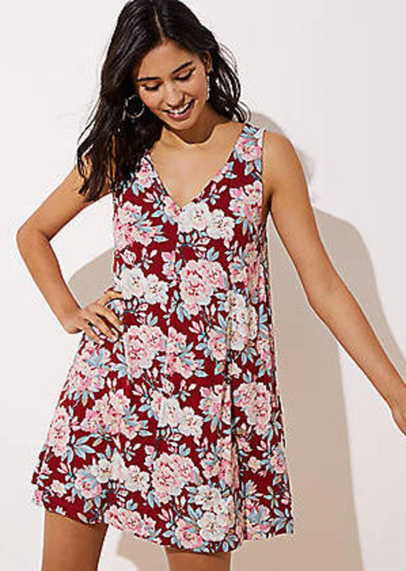 LOFT Bouquet Sleeveless Swing Dress
