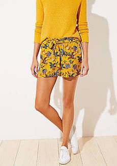 LOFT Bouquet Tie Waist Shorts