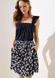 LOFT Bouquet Tie Waist Skirt