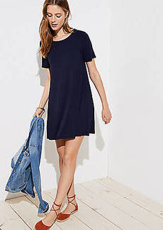 LOFT Bow Back Short Sleeve Swing Dress