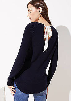 LOFT Bow Back Sweater