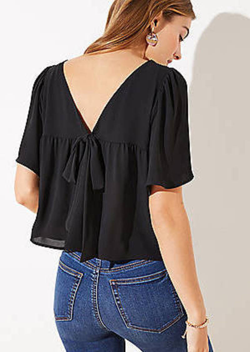 LOFT Bow Back Cropped Top