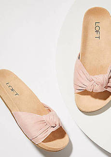 LOFT Bow Slide Sandals
