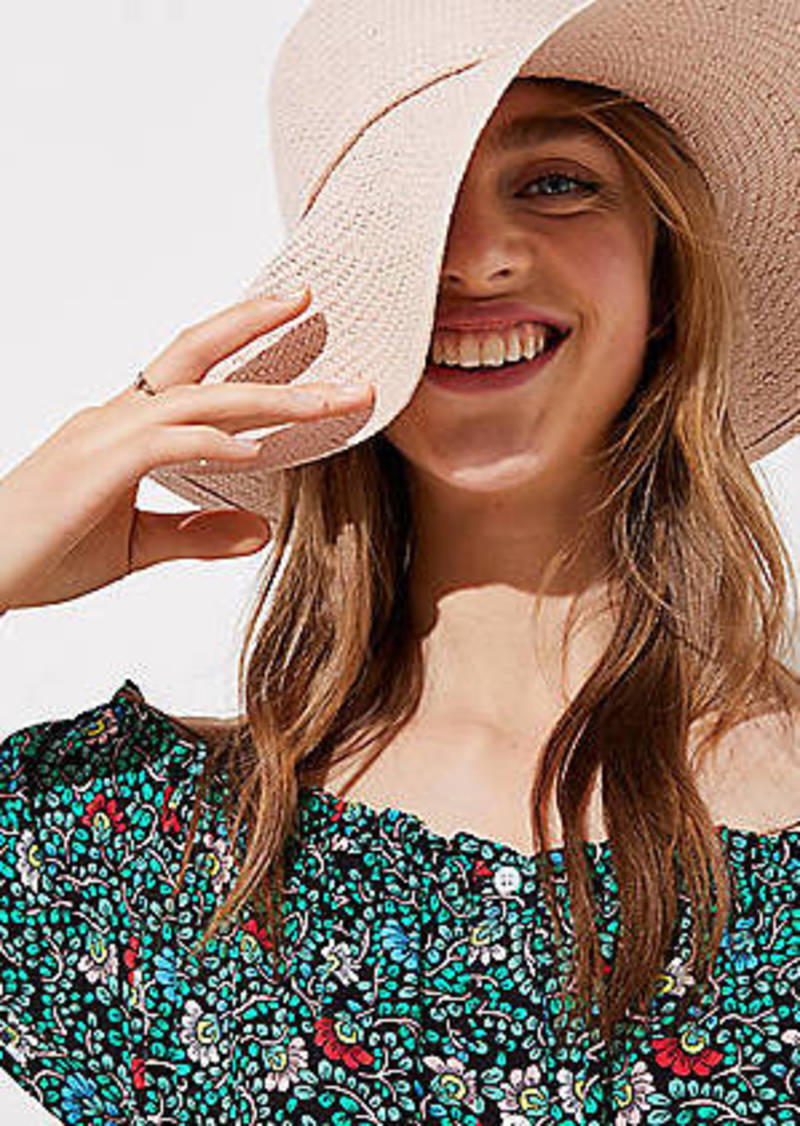 LOFT Bow Straw Hat