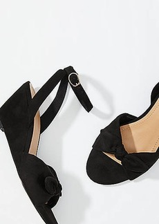 LOFT Bow Wedge Sandals