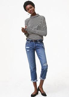 LOFT Boyfriend Jeans in Bright Mid Indigo Wash