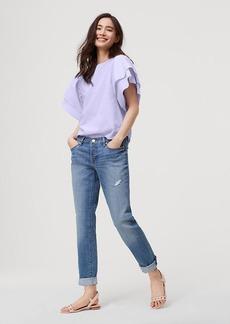 LOFT Boyfriend Jeans in Destructed Birch Wash