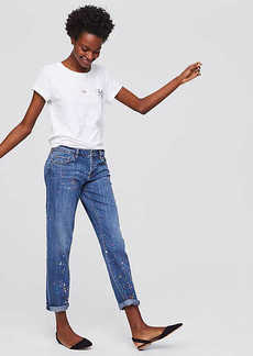 LOFT Boyfriend Jeans in Painted Indigo Wash