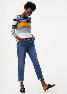 Boyfriend Jeans in Rich Mid Indigo Wash