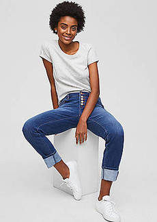 LOFT Boyfriend Jeans in Rich Mid Indigo Wash