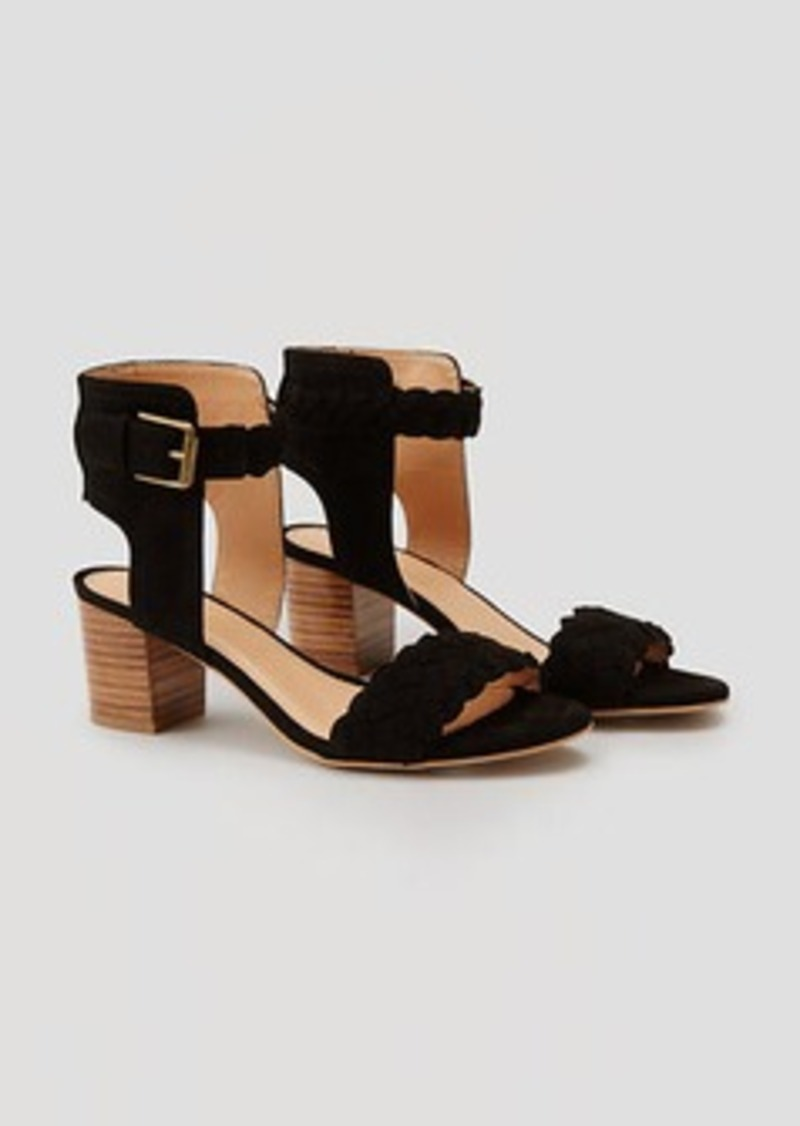 LOFT Braided Stacked Heel Sandals
