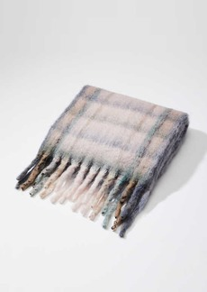 LOFT Brushed Plaid Scarf