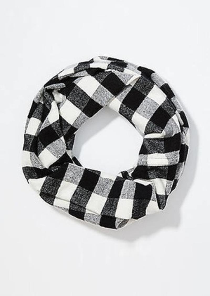 LOFT Buffalo Plaid Infinity Blanket Scarf