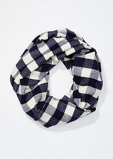 LOFT Buffalo Plaid Infinity Scarf