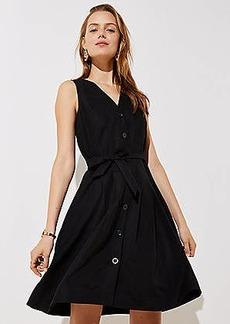 LOFT Button Down Pocket Flare Dress